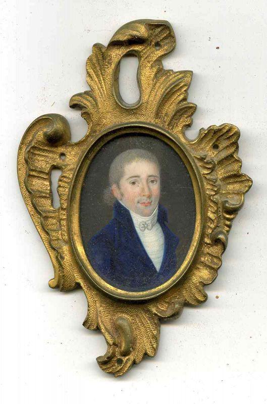 Portrait Miniature of a Gent c1790