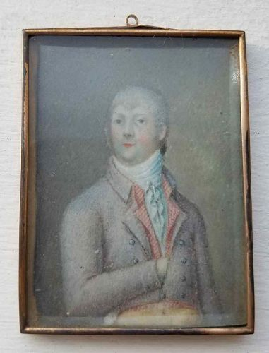 A Miniature Painting of a Gentleman c1810
