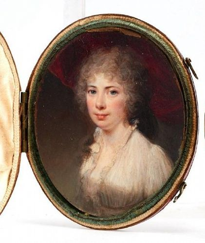 Samuel Shelley Portrait Miniature c1785