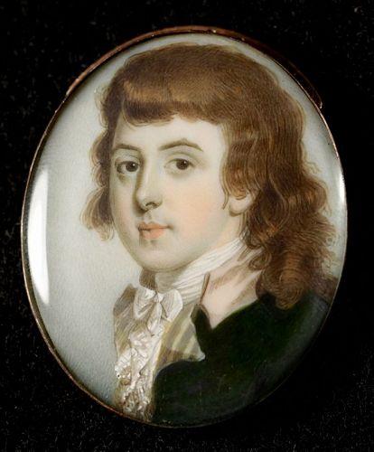 A Superb John Barry Miniature Portrait c1790