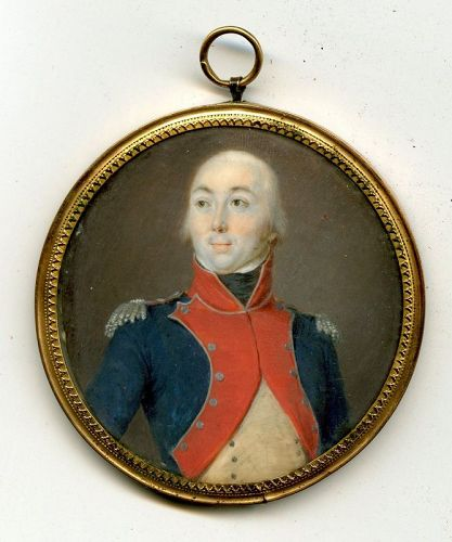 Miniature Portrait of an Officer c1795