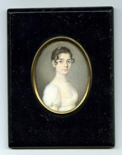 Benjamin Trott Portrait Miniature c1805