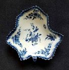 Early Worcester Pickle Leaf Vine Dish c1758