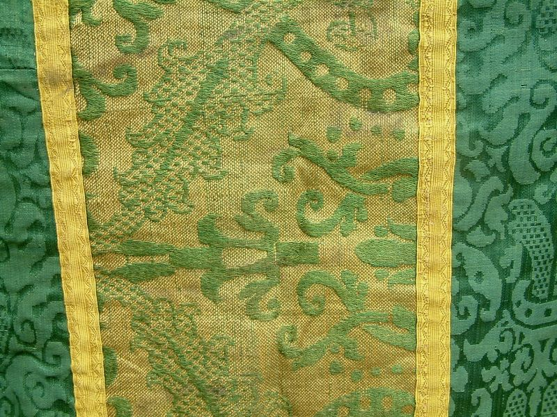 Early French Silk Ecclesiatical Vestment c17th-19th c
