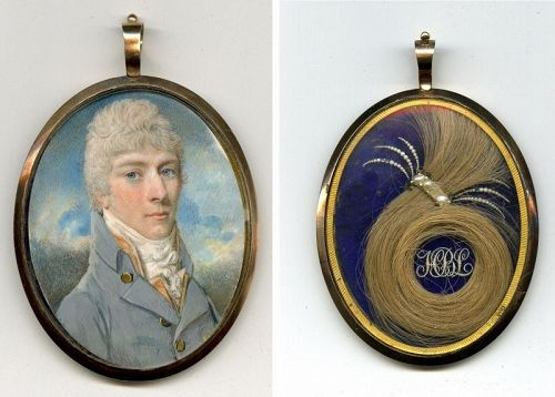 Walter Stephens Lethbridge Portrait Miniature c1805