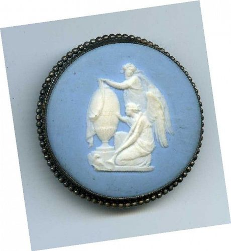 A Fine 18th C Wedgwood Jasperware Button