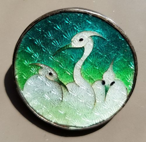 An Uncommon Japanese Gin Bari Button 19th c