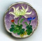 A Striking Cloisonne Gin Bari Button 19th C