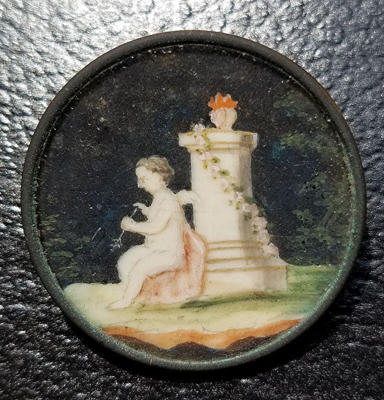 A Fine 18th Century Pictorial Button