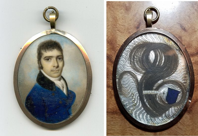 John Turmeau Miniature Portrait c1805