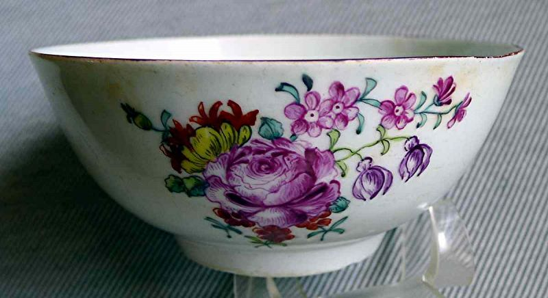 A Fine Longton Hall Porcelain Bowl c1756