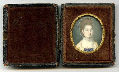 James Jennings Miniature Portrait of an Elegant Woman c1772