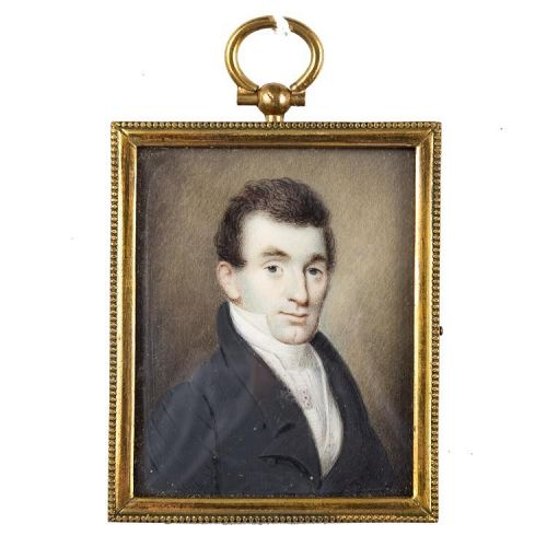 Extraordinary William Lewis Miniature Portrait c1833