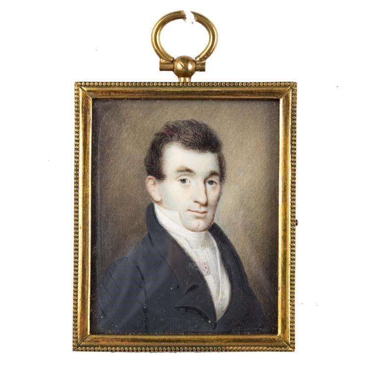 Extraordinary William Lewis Miniature Portrait c1833