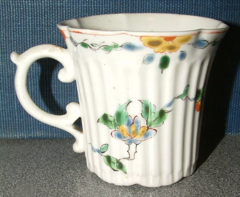 Early and Fine Worcester Coffee Can c1753-4