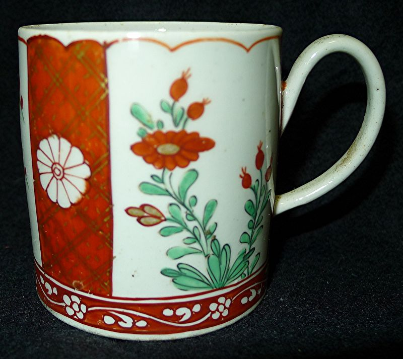 Chaffer Liverpool Porcelain Coffee Can c1760