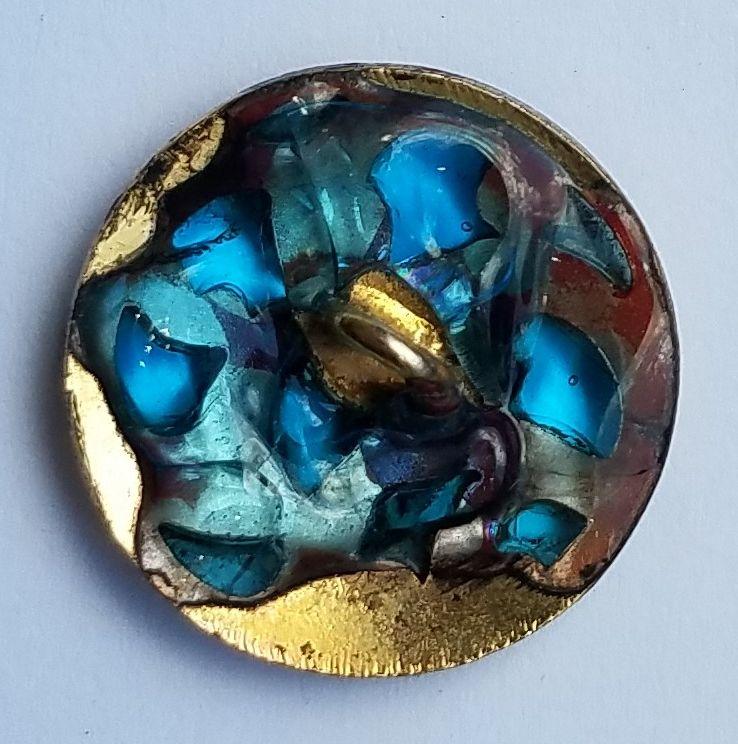A Beautiful Plique-a-Jour Button c1900