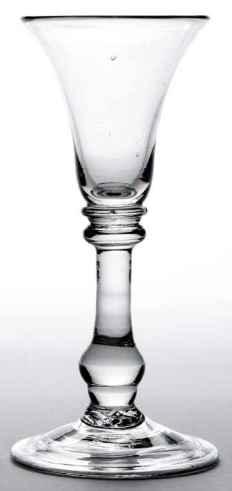 An English Baluster Wine Glass c1720