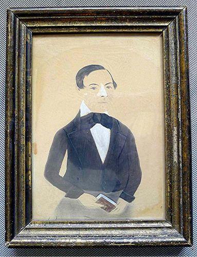 A Jane Anthony Davis Watercolor Portrait c1847-1850