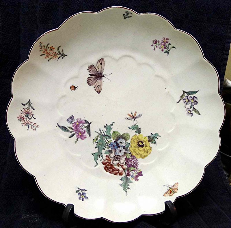 A Beautiful and Large Chelseaa Porcelain Dish c1755