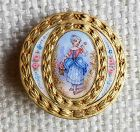 A Double-Bordered French Button 19th c
