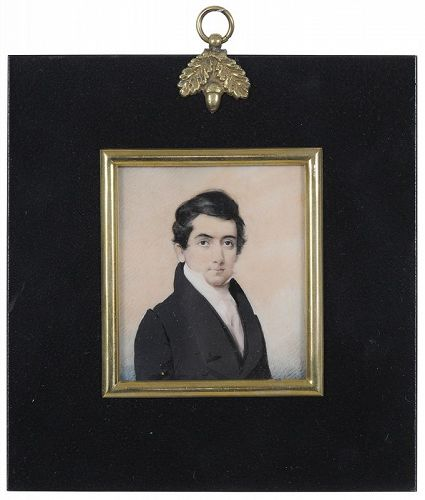 Daniel Dickinson Miniature Portrait c1835