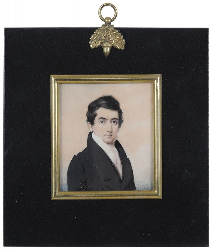Daniel Dickinson Miniature Portrait c1835