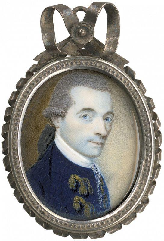 Charles Robertson Portrait Miniature c1790