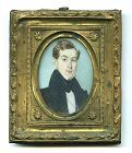 George W. Newcombe Portrait Miniature c1835