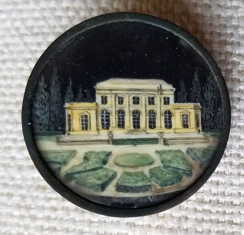A Fine French Scenic 18th Century Button