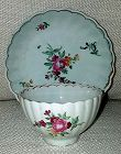 A Liverpool Porcelain Tea Bowl and Saucer c1780