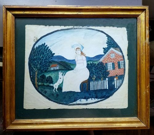 A Fine Naive American Folk Painting c1800-1803
