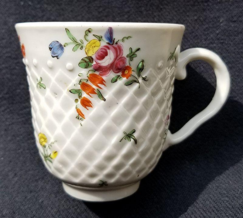 Superb Bristol Porcelain Coffee Cup c1775