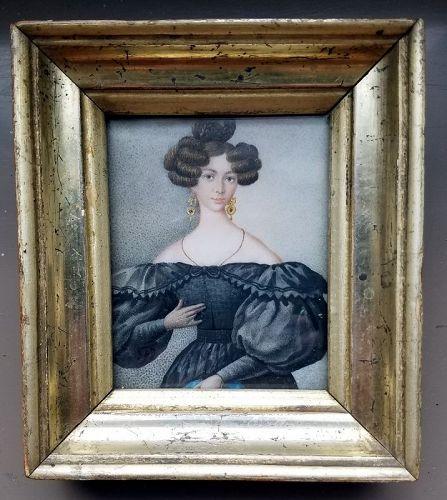 A Stiking Portrait Miniature c1820