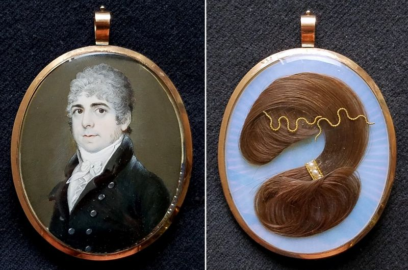 A Handsome Miniature Portrait of a Gent c1795