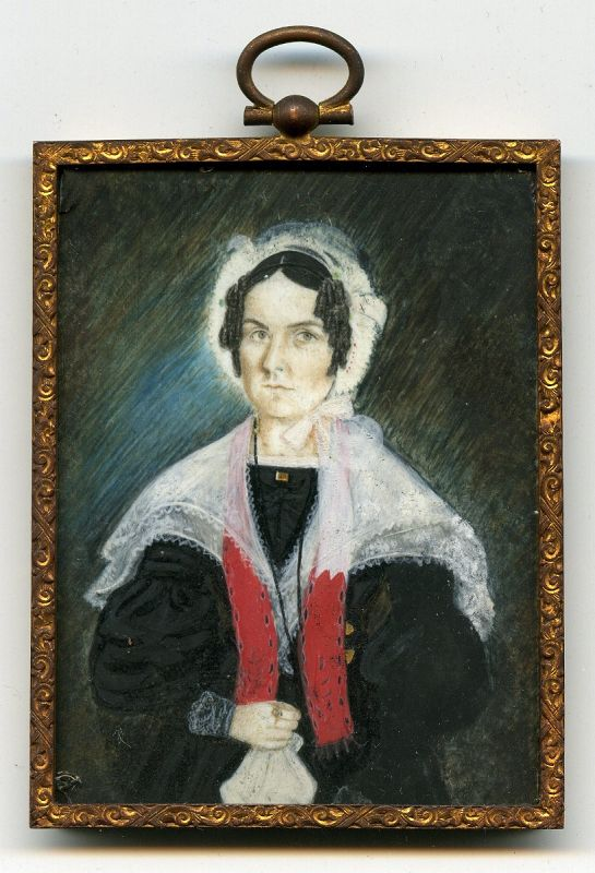 Strong American Miniature Portrait of a Woman c1830