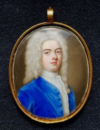 Important Christian Zincke Miniature of Edward Walpole c1730