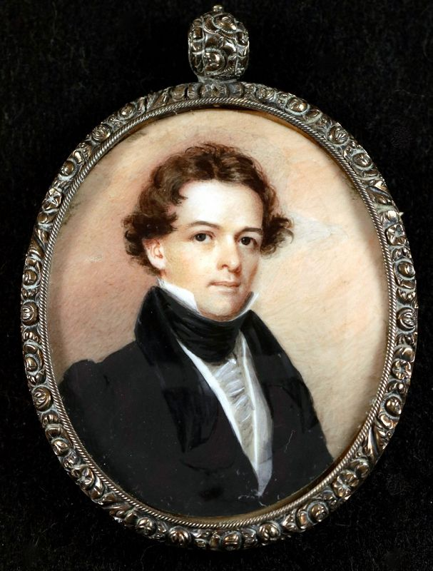 Henry Inman American Miniature Portrait c1835