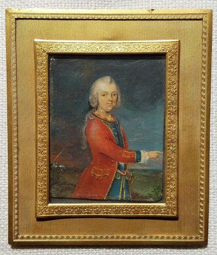 Miniature Painting of  Royal Family Member c1740