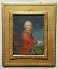 Miniature Painting of  Royal Family Member c1740