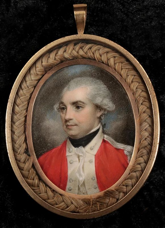 A Fine Samuel Shelley Miniature Painting of an Officer c1784