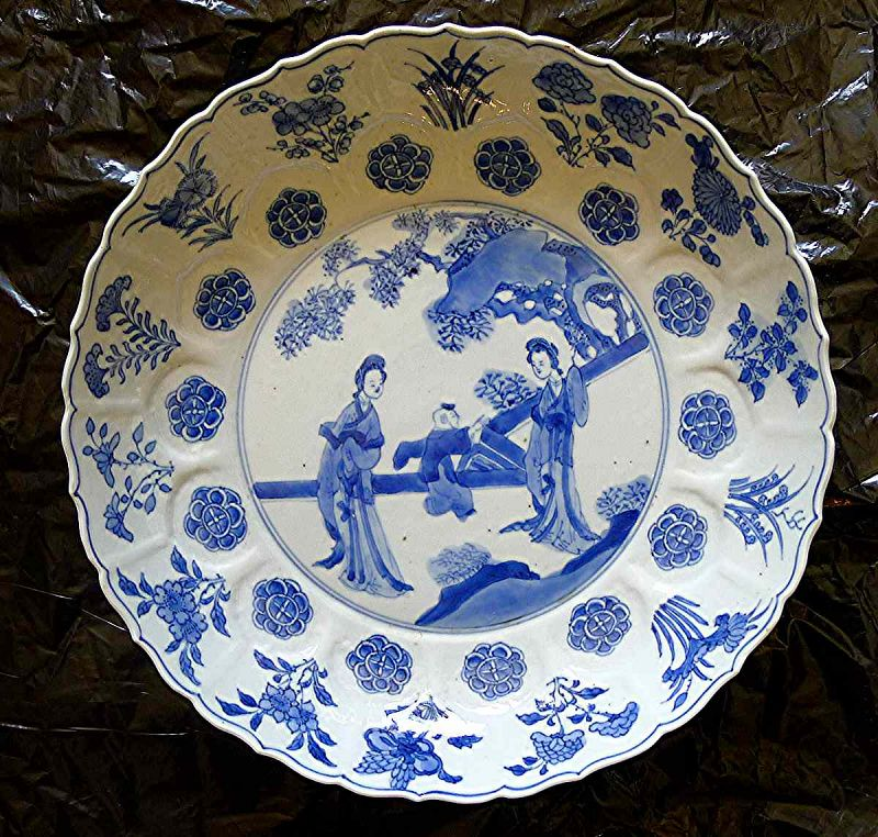 A Beautiful Kangxi Porcelain Plate c1690