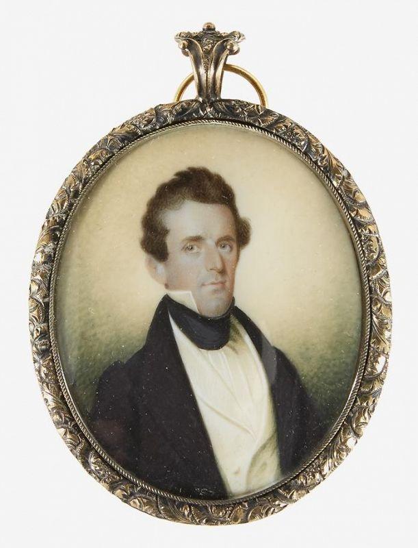 Alfred T. Agate Portrait Miniature c1835