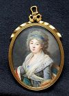 MIniature Portrait of Beautiful Lady c1790