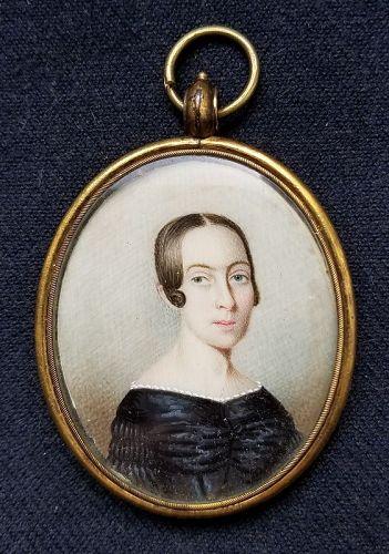 Alexander Hamilton Emmons Portrait Miniature of a  Woman c1835