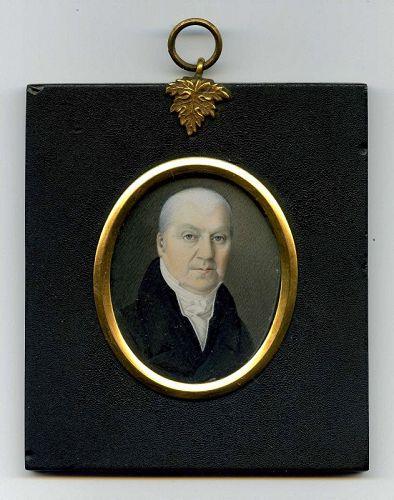 Miniature Painting of a Gentleman c1825