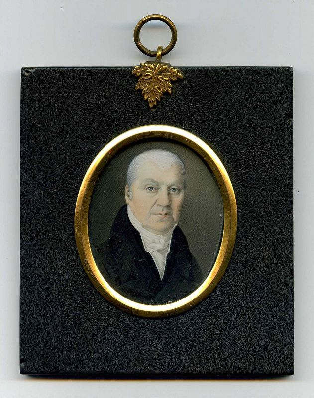Miniature Painting of a Gentleman c1825