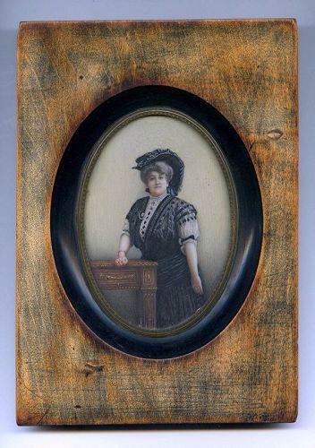 Reinhold Krauss Miniature Painting c1890