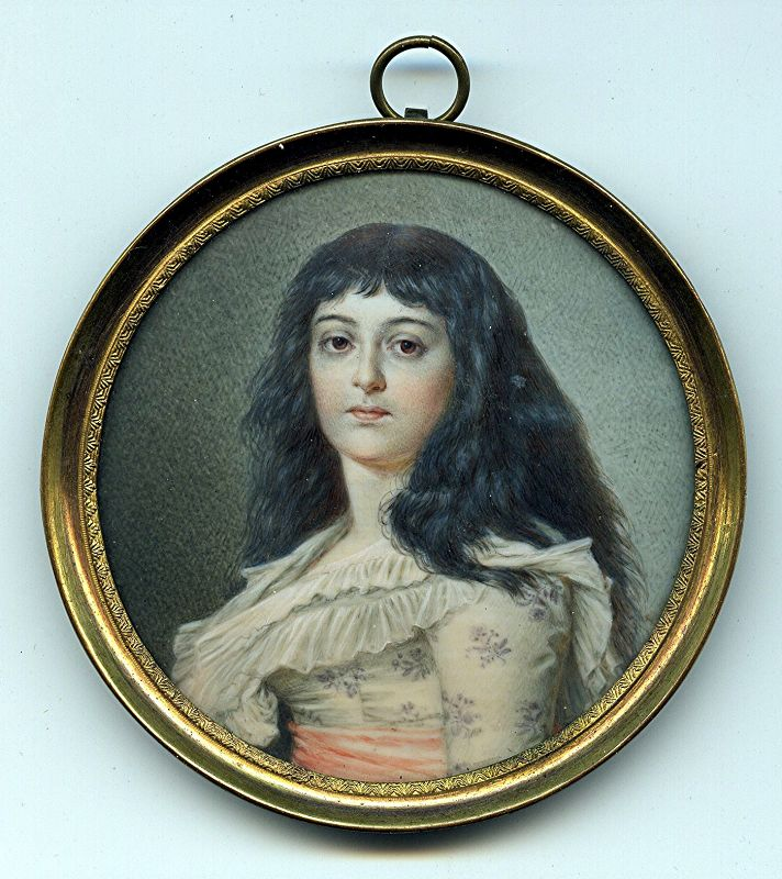 Miniature Portrait of Madame Roland Late 19th Century