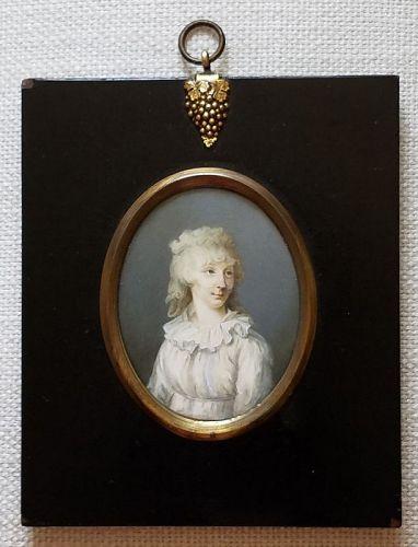 Francois Ferriere Portrait Miniature c1795